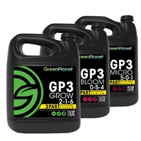 GREEN PLANET GP3 GROW MICRO BLOOM 3 X 1L SET HYDROPONIC NUTRIENTS GREENPLANET