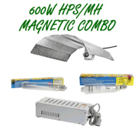 600W MAGNETIC BALLAST & HPS/MH LAMP WITH BATWING REFLECTOR LIGHT COMBO GROW TENT
