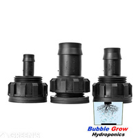 19MM TUB OUTLET FITTING HYDROPONICS AQUAPONICS PLUMBING TUBE SEAL WATER