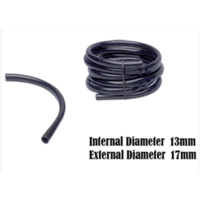 HIGH QUALITY 13mm X 10M BLACK SOFT HYDROPONIC OR IRRIGATION HOSE PIPE