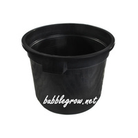 LARGE FLOWER POT BUCKET WITH HANDLES 500X380 52L HIGH QUALITY PLASTIC HYDROPONIC