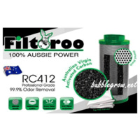 "FILTAROO  4"" (100MM) AIR ACTIVATED CARBON FILTER FOR HYDROPONICS GROW TENT ROOM"