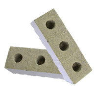 12 x PREMIUM GRODAN WRAPPED ROCKWOOL CUBES 75MM x 75MM WITH HOLE ROCK WOOL