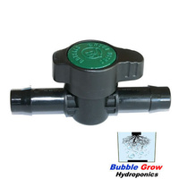 25MM INLINE TAP VALVE BARBED HOLMAN WATER PIPE PLASTIC FITTINGS PLUMBING
