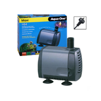 AQUA ONE 104 2000LT PER HOUR WATER PUMP FOR HYDROPONICS, AQUARIUM, WATER FEATURE OR FOUNTAIN
