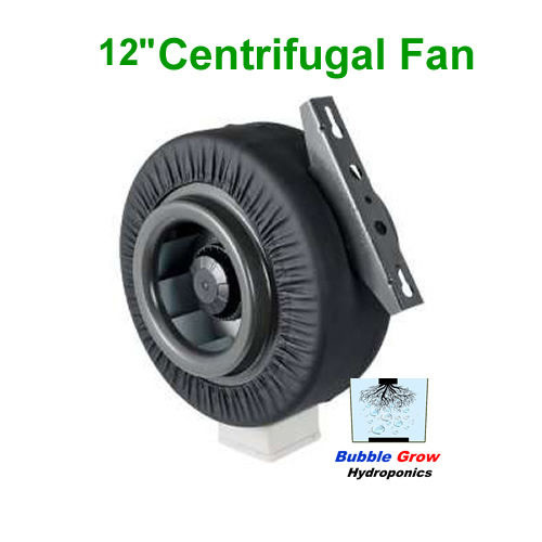 "CENTRIFUGAL 12""/300MM FAN VENTILATION EXHAUST VENT DUCT EXTRACTOR METAL BLADE"